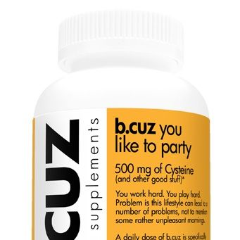 <p>So we're sure you take some sort of daily vitamin, b.cuz tries to simplify it and have a vitamin for specific issues. B.cuz you like to party gives you the option of taking a vitamin to help make you feel a little better in the morning. Perfect for when you're headed on vacation and know you'll be partying hard.</p>