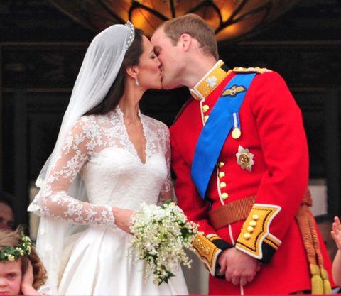 Event, Dress, Bridal clothing, Bridal veil, Photograph, Outerwear, Coat, Happy, Bride, Formal wear,
