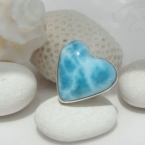 <p>Larimar aka Stefita's Stone is found only in la Republica. The stone varies from white to variations of blue. Get yourself a great statement piece.</p>