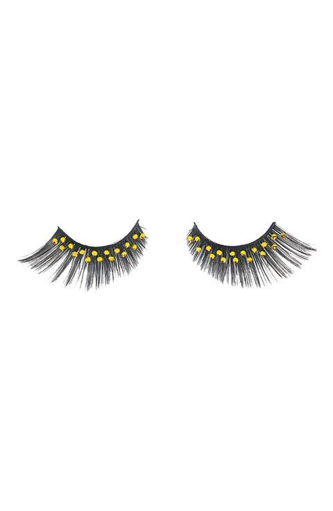"<p>Get noticed on the dance floor with a set of rhinestone embellished faux lashes. The yellow stones on these <a href=""http://shop.nordstrom.com/S/napoleon-perdis-luxe-firecracker-full-faux-eyelashes/3267842?origin=category-personalizedsort&contextualcategoryid=0&fashionColor=&resultback=2418&cm_sp=personalizedsort-_-browseresults-_-1_7_B"" target=""_blank"">Napoleon Perdis ""Luxe Firecracker"" Full Faux Eyelashes</a>, $45, will light up brown eyes.</p>"