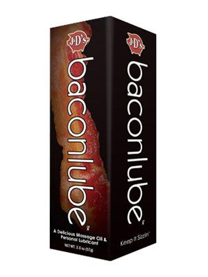 """<p><a href=""""http://screwysextoys.com/2011/11/30/bacon-lube/"""" target=""""_blank""""><strong>Bacon </strong></a></p> <p>Yes, the flavor of the 2010s finds its (questionable) place within the sex product industry.</p>"""