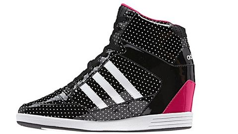 "<p>WeNEO Super Wedge Shoes</p> <p>Selena Gomez helped design the Adidas NEO collection and these shoes are one of our faves. The polka dots are adorable and you can wear these in the rain without ruining them.</p> <p>$75, <a title=""Adidas sneaker"" href=""http://www.adidas.com/us/product/womens-neo-weneo-super-wedge-shoes/VL789?cid=Q26472&breadcrumb=1z13071Z1z11zrf&search=wedge&cm_vc=SEARCH%20"" target=""_blank"">Adidas.</a></p>"