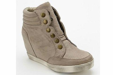 reputable site ec7a6 006e9  p MIA Flavor Snap Hidden Wedge High-Top Sneaker  p
