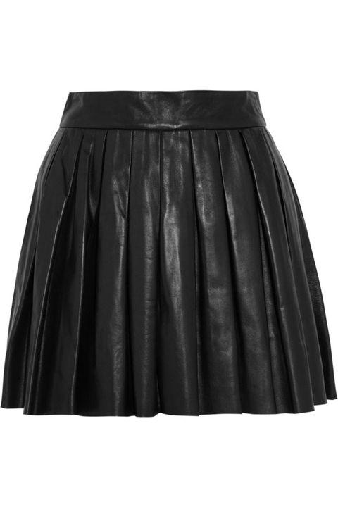 Burberry London Leather Pleated Skirt, $1,595, net-a-porter.com