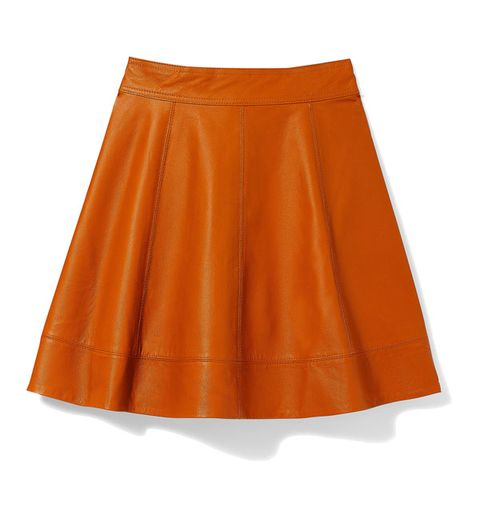Alice & Olivia Pleated Leather Skirt, $495; net-a-porter.com