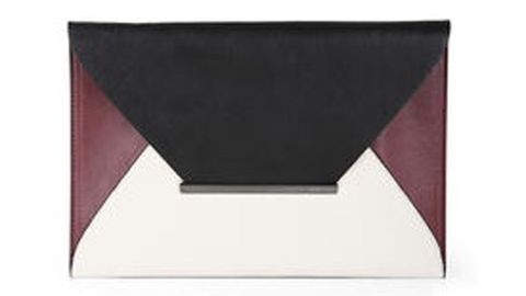 "<p>Harlow Envelope Clutch</p> <p>Mixing a trend like black and white with another color really can give a great pop of color. This clutch is perfect for a big meeting or Happy Hour.</p> <p>$88, <a title=""BCBG"" href=""http://www.bcbg.com/Harlow-Envelope-Clutch/NVQ611EP-D2T,default,pd.html?dwvar_NVQ611EP-D2T_color=D2T&cgid=accessories-bags#start=43%20"" target=""_blank"">BCBGMaxAzria</a>.</p>"