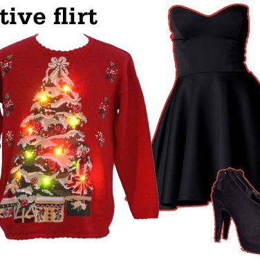 "<p>If you know your crush is headed to the same theme party, a simple <a href=""http://www.seventeen.com/fashion/blog/bella-thorne-little-black-dress""target=""_self"">black dress</a> (paired with a sweater that literally lights up a room) is a sure way to catch their eye! It's flirty without being over the top, and a pair of booties are much easier to walk in than mile-high stilettos.<br />