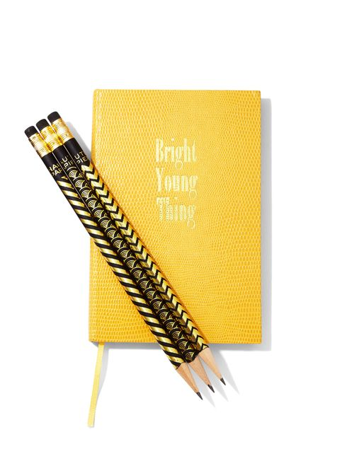 """<p><span>Sloane Stationery, $24.95, </span><a href=""""http://www.shopkitson.com/"""">shopkitson.com</a><span>; </span><strong>pencils, </strong><span>Haute Papier, $1.50 each,</span><strong><a href=""""http://www.hautepapier.com/"""">hautepapier.com</a></strong></p>"""