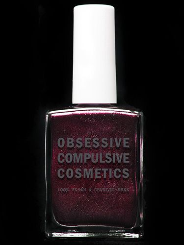 """<b>Black Metal Dahlia Nail Polish</b>, $10, <a href=""""http://occmakeup.com/collections/nails/products/nail-lacquer""""target=""""_blank"""">occmakeup.com</a>"""