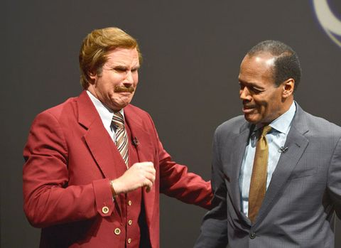 <p><em>Anchorman</em> star Will Ferrell was seen out and about rocking a burgundy ensemble.</p>