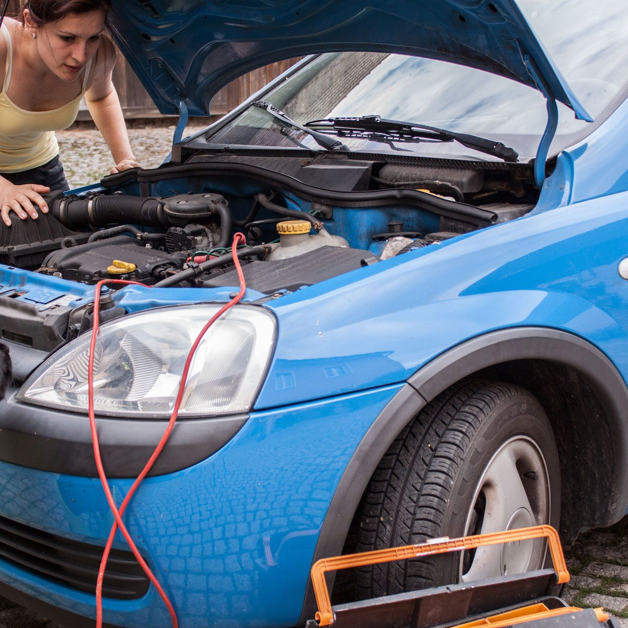<p>You could pay for a pricey mechanic, or you could take 30 minutes to open up your hood, and see for yourself why your sedan is making that weird chugging noise. A 150-pound woman who gets down and dirty for half an hour burns 102 calories, and saves a pretty penny.</p>