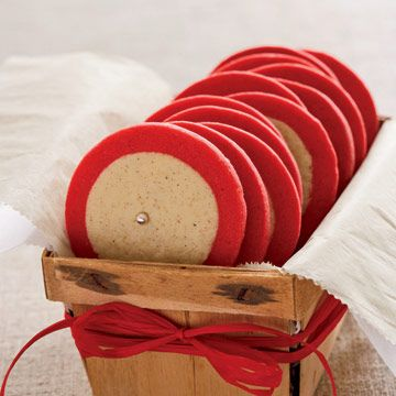 All you need are two different-colored doughs, a rolling pin, and a knife. Form one dough ball into a log, then wrap the rolled-out colored dough around it, chill, slice into cookies, and bake.