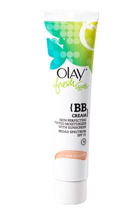 "<p>Try: <a href=""http://www.olay.com/skin-care-products/fresh-effects/Fresh-Effects-Skin-Perfecting-Tinted-Moisturizer-with-Sunscreen-light-to-medium?pid=075609191503"">Olay Fresh Effect {BB Cream!} Skin Perfecting Tinted Moisturizer with Sunscreen</a>. It covers minor imperfections and blotches while hydrating skin for a full 24 hours. </p>"