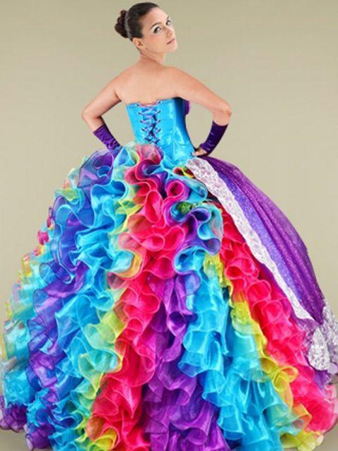 c504f21bec Ugly Quinceanera Dresses - Tacky Quince Dresses