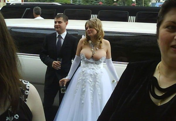 Dress out wedding boobs Filling out
