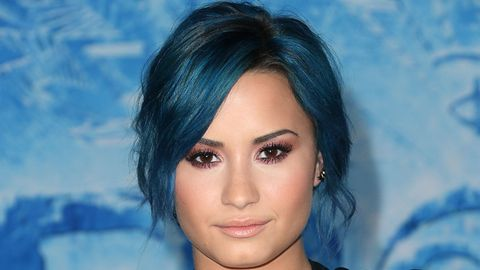 <p>It seems like every time Demi Lovato makes a new appearance, she debuts a new do. She's the new Jennifer Aniston, meaning everyone is obsessed with her hair.</p> <p>Exhibit A: Demi looked stunning in her bright blue updo at the Premiere of Walt Disney Animation Studios' <em>Frozen</em> at the El Capitan Theatre on November 19.</p>