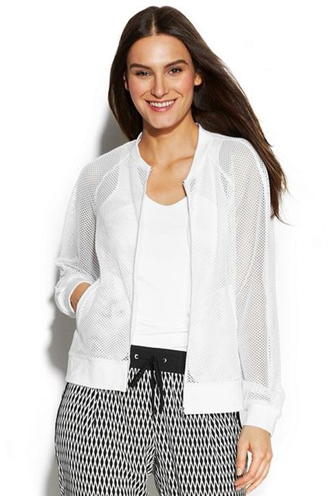Clothing, Smile, Product, Sleeve, Human body, Shoulder, Collar, Textile, Joint, Outerwear,