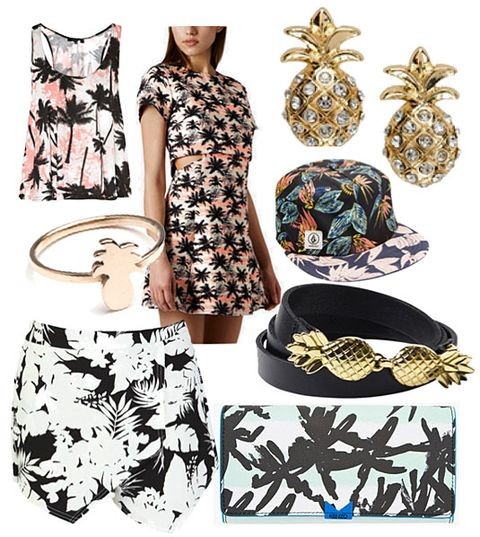 898d5cec06 Tropical Inspired Looks - Outfit Ideas With Palm Prints and Pineapples