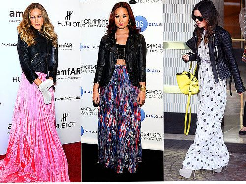 Celebrities Wearing Maxi Dresses And Motorcycle Dresses - Cool ...