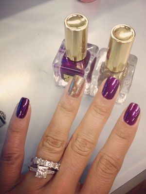 Estee Lauder Ultra Violet and Explosif Nail Polish Review