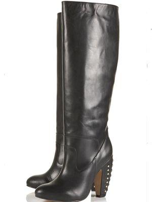 241d5b171d4a BAILEY Stud Banana Heel Boots - Sexy Boots