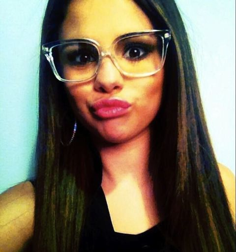 5664bf5d43cca Selena Gomez Clear Frame Glasses - Lucite Hot Spring 2013 Trend