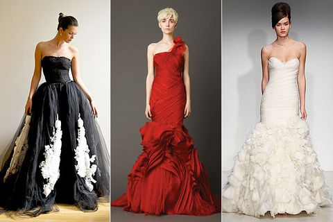 Black Red And White Wedding Dresses
