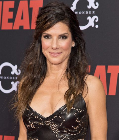 Sandra Bullock Half Up Hairstyle At The Heat Premiere ...