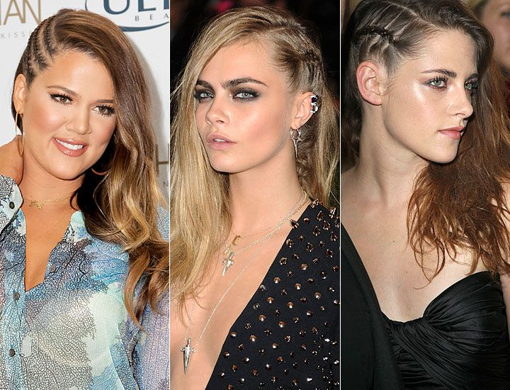 Side French Braids - Celebrities Wear The Side French Braid