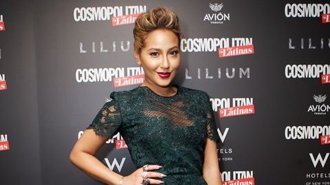 Adrienne Bailon Cosmo For Latinas Party Makeup Adrienne Bailon