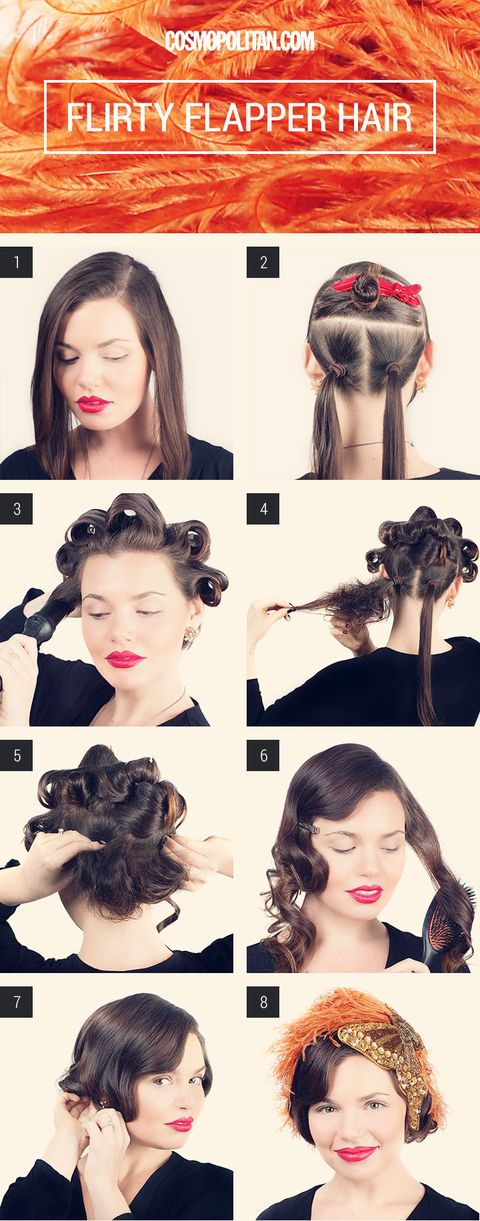 Flapper Girl Hair How To For Halloween Turning Long Hair Into A Flapper Bob