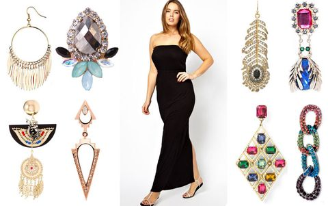 Top Row Tel Hoop Earrings Dorothy Perkins 11 Black And Blue Stone Akira 10 Strapless Maxi Dress Asos Curve 20 Pea Feather
