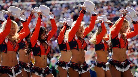 Super Bowl Makeup - Denver Broncos Cheerleaders Makeup