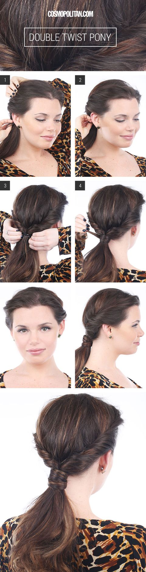 Double Twist Ponytail Hairstyles For Long Hair