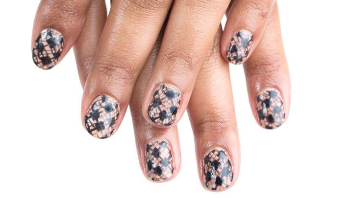 Black Lace Manicure Easy Nail Art Tutorial