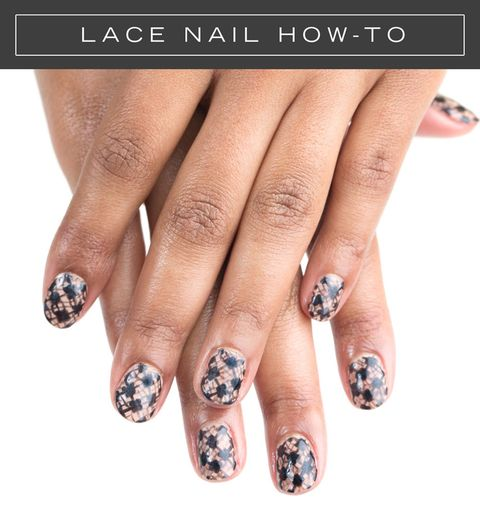 Black lace manicure easy nail art tutorial elizabeth griffin prinsesfo Image collections