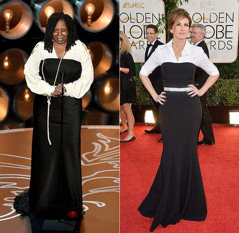 Whoopi Goldberg Presented At The 2017 Oscars And Wore Basically Same Dress That Julia Roberts To Golden Globes 1 Looks Much Better In