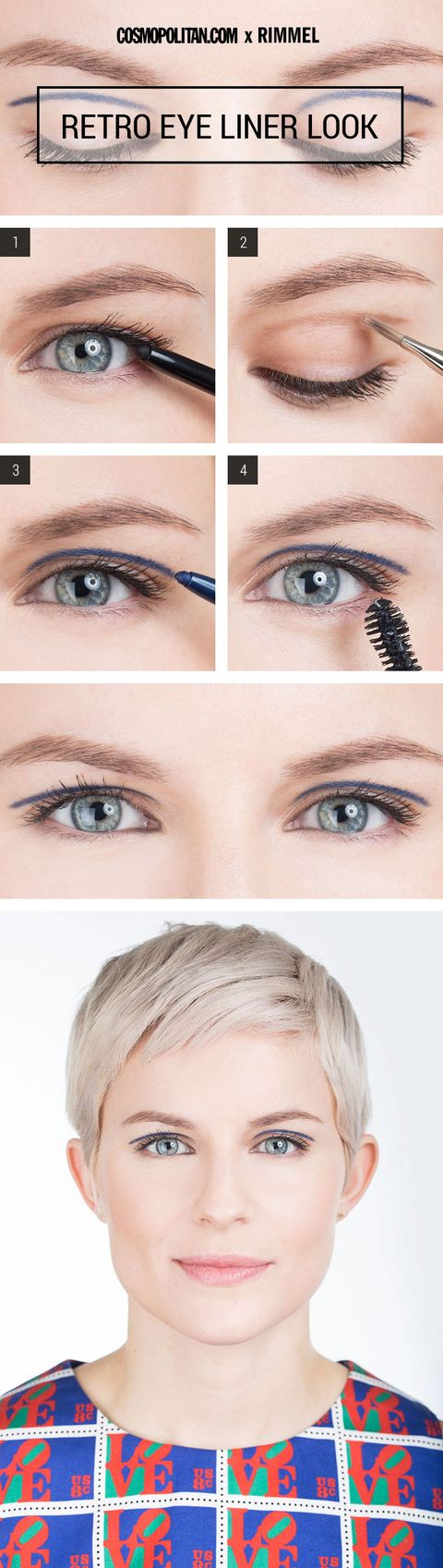 Retro Eye Makeup Look Mod Eyeliner Makeup Tutorial