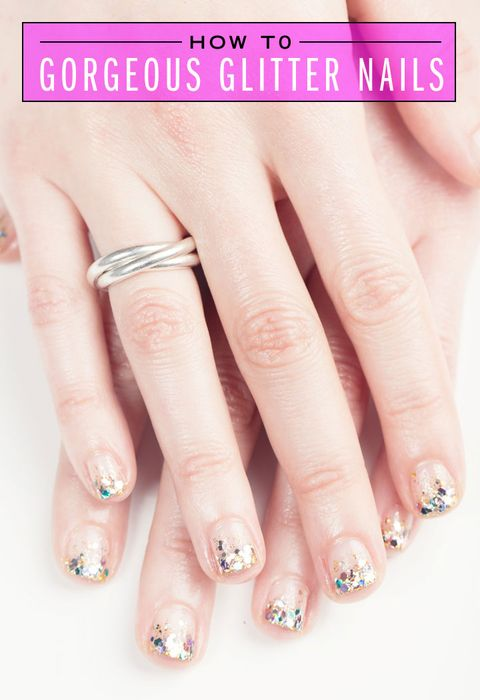 How to gorgeous glitter manicure glitter tip manicure elizabeth griffin solutioingenieria Image collections