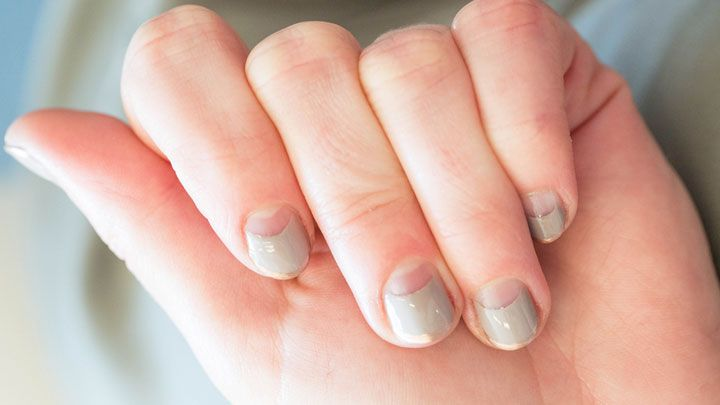 - How To Half Moon French Manicure - Half Moon Nails