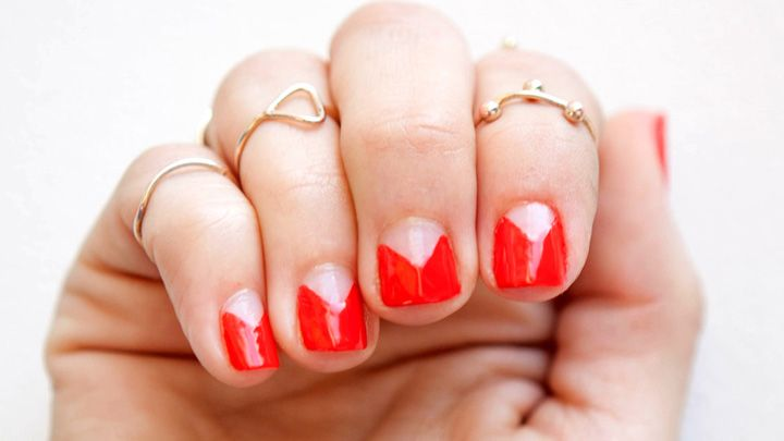 V nail art best image nail 2017 how to manicure tape trick nail art shapes tutorial prinsesfo Images