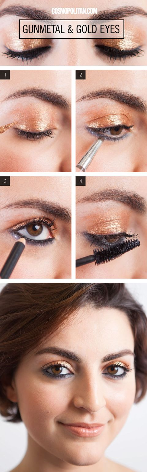 Gunmetal And Gold Eyeshadow Tutorial Sexy Gold And Black Smoky Eye