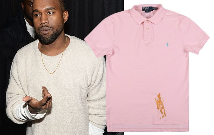 Replica of a Mustard,Stained Polo Shirt Once Worn by Kanye