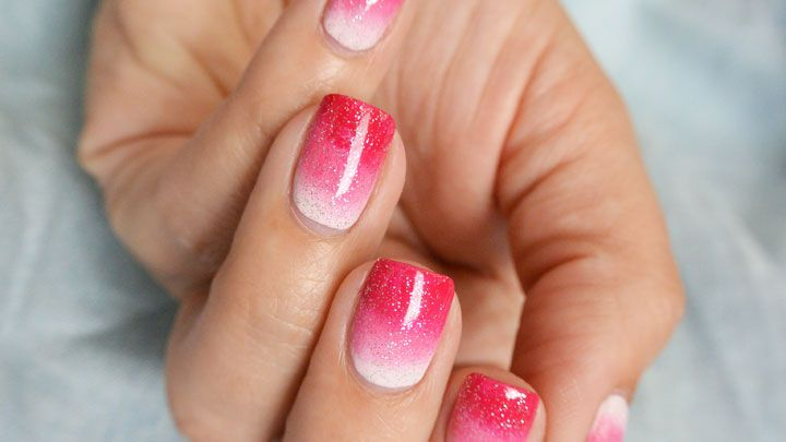 Pink gradient nail art how to get ombre nails prinsesfo Image collections