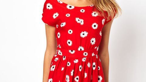 """<p>Wear it now with sexy sandals and come fall, add a blazer, tights and boots or pumps.</p> <p> </p> <p>$75.94, <a href=""""http://us.asos.com/Motel-Whispa-Skater-Dress-In-Daisy-Print-With-Open-Back/10siqw/?iid=3183498&SearchQuery=summer%20dress&sh=0&pge=1&pgesize=36&sort=-1&clr=Daisy&mporgp=L01vdGVsL01vdGVsLVdoaXNwYS1Ta2F0ZXItRHJlc3MtSW4tRGFpc3ktUHJpbnQtV2l0aC1PcGVuLUJhY2svUHJvZC8."""" target=""""_blank"""">ASOS</a></p>"""