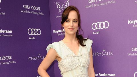 <p>At the Chrysalis Butterfly Ball, the actress looked romantic in a multi-textured, fluttery-sleeved daytime frock.</p>