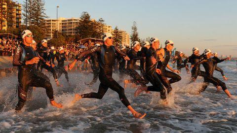 Fun, Team, Endurance sports, Youth, Wetsuit, Dry suit, Swim cap, Beach, Crew, Active pants,