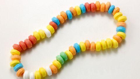 Yellow, Orange, Natural material, Colorfulness, Bracelet, Bead, Aqua, Creative arts, Craft, Body jewelry,