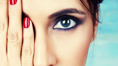 Finger, Lip, Brown, Skin, Eyebrow, Eyelash, Nail, Iris, Beauty, Eye shadow,
