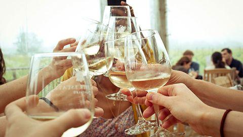 Stemware, Glass, Wine glass, Barware, Drinkware, Drink, Hand, Alcoholic beverage, Alcohol, Champagne stemware,